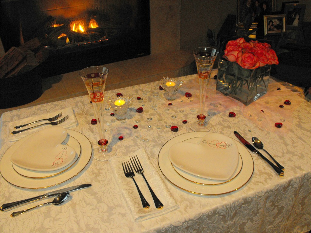 Intimate Valentine's Dinner by the fire