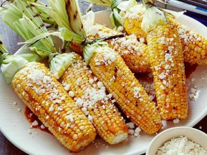 Grilled Corn with Chili Lime Cotija