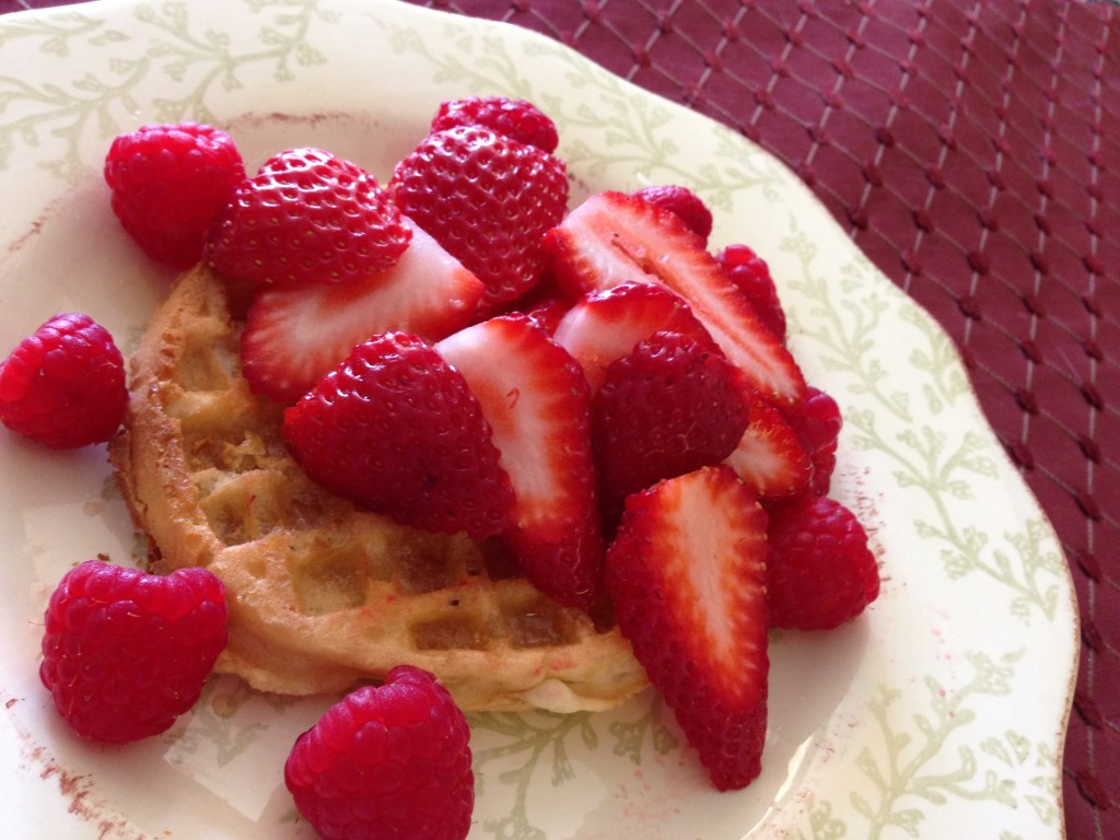 Fruit and GF Waffles