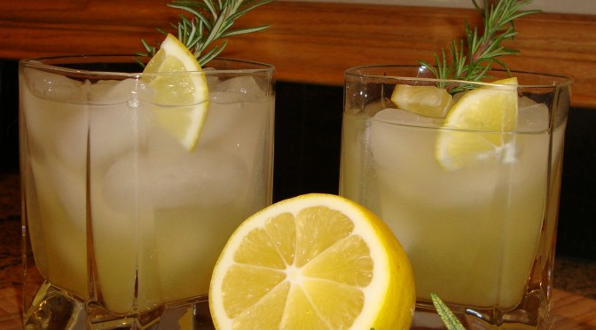 ... cocktail cocktails ginger rosemary lemon spritzer meyer lemon cocktail