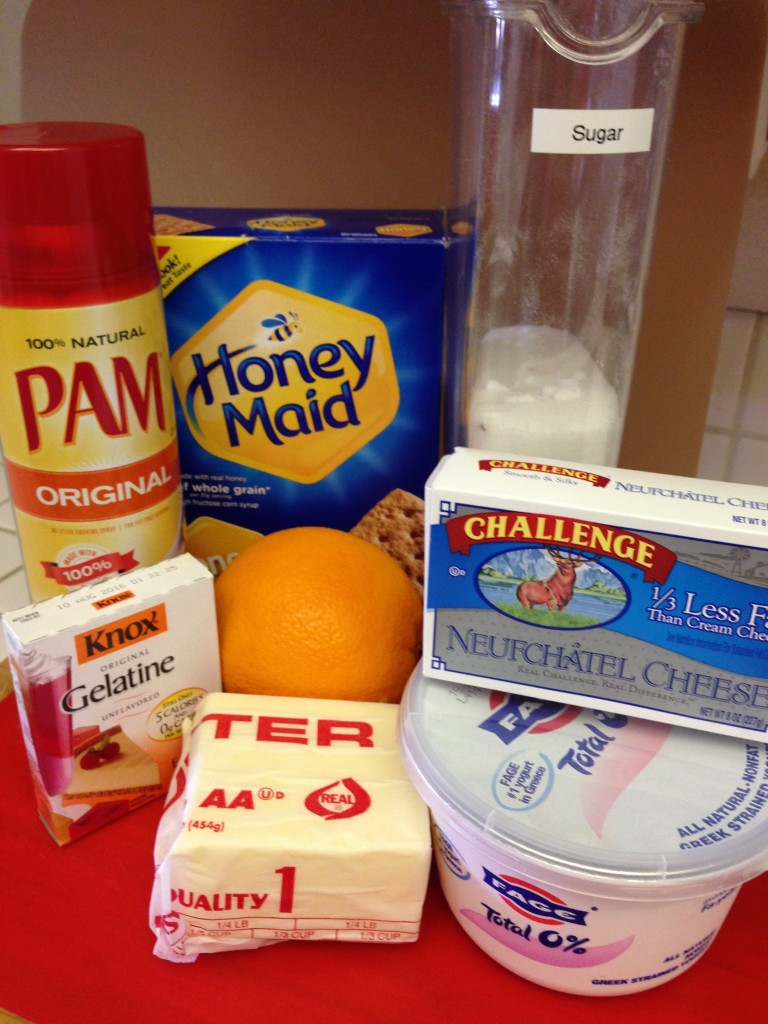 Yogurt Cheesecake Ingredients