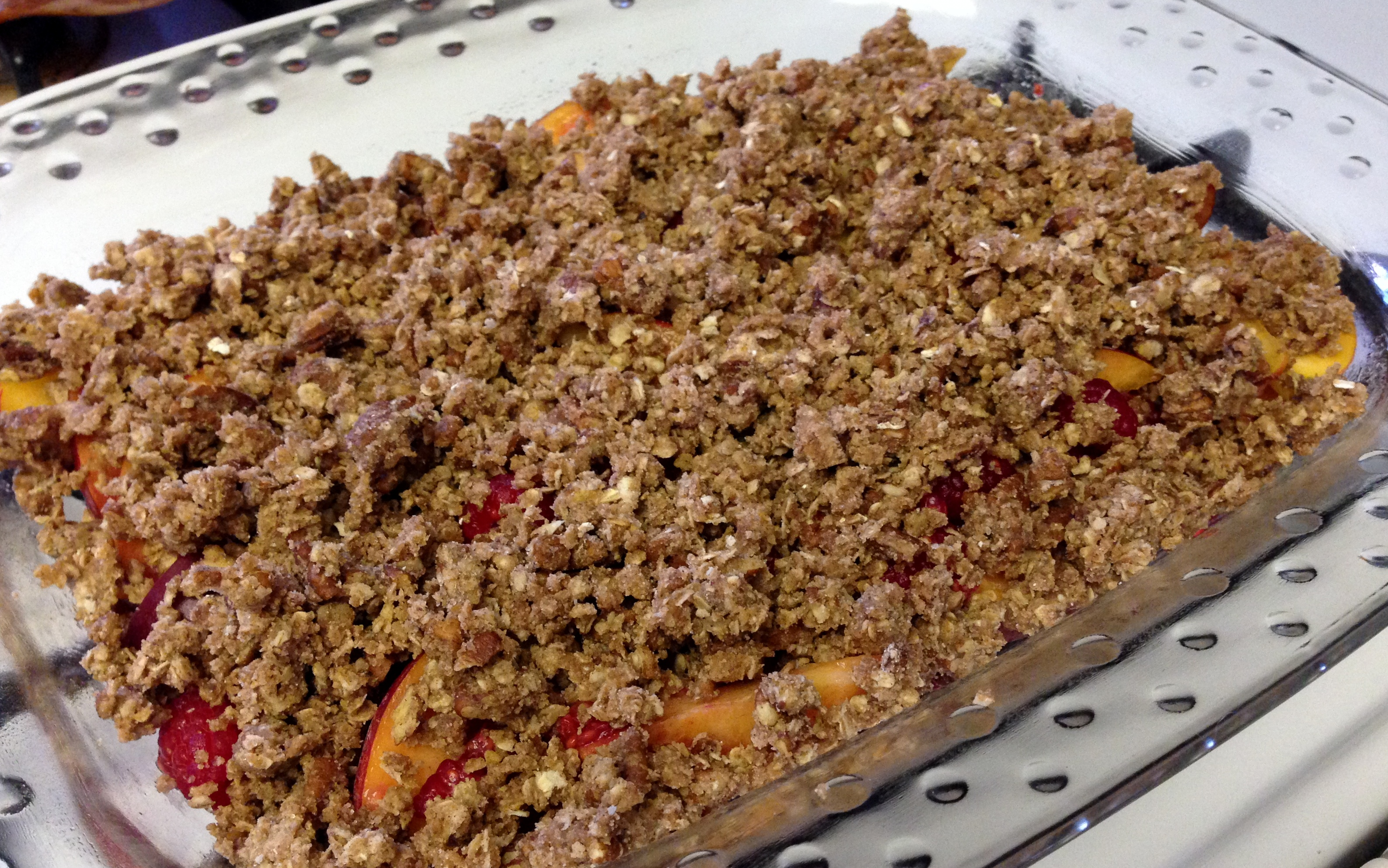 Gluten Free Nectarine Raspberry Crumble – Life of the Party Always!