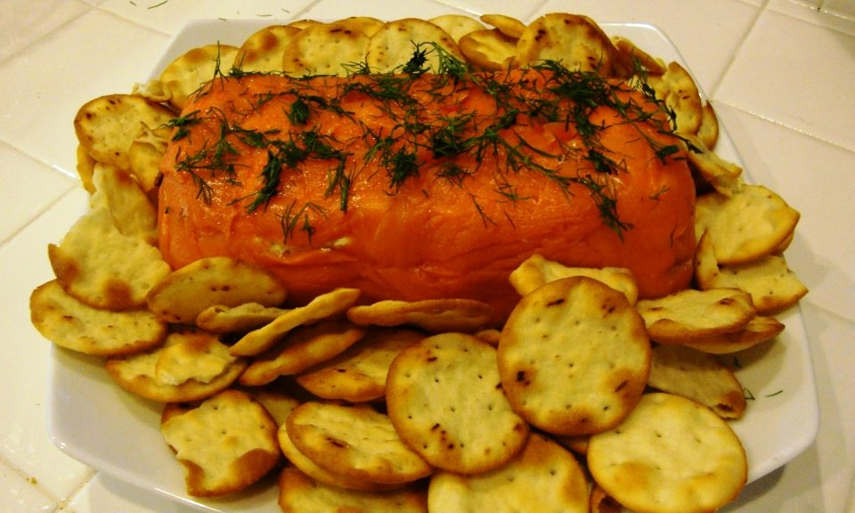 Salmon Mousse and Crackers