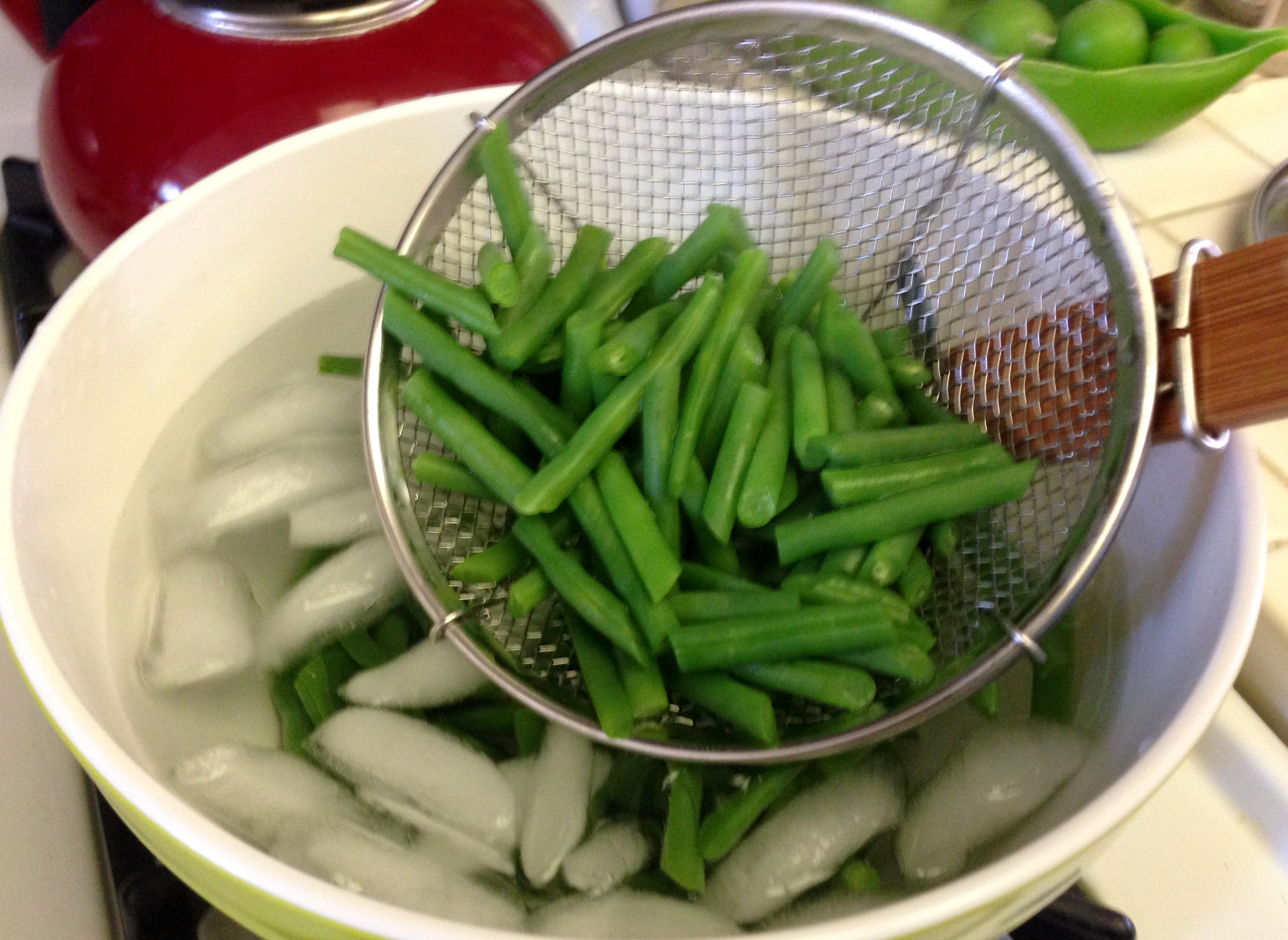 Haricot Verts Ice Bath