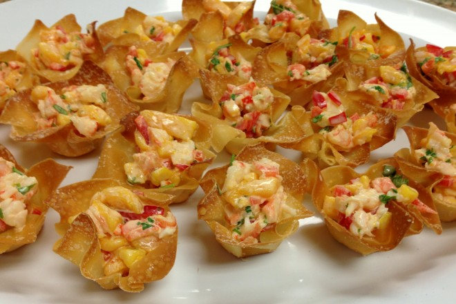 Mango Shrimp in Wonton Cups | Life of the Party Always!