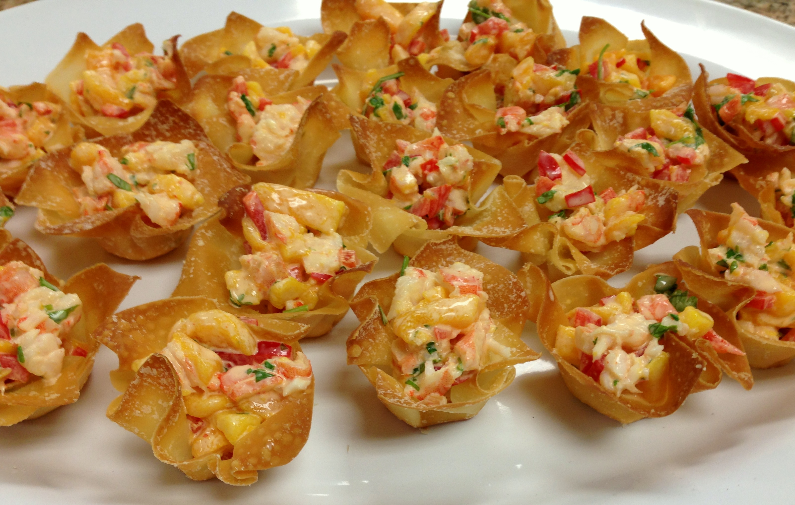 Mango Shrimp in Wonton Cups | Life of the Party Always!Life of the ...