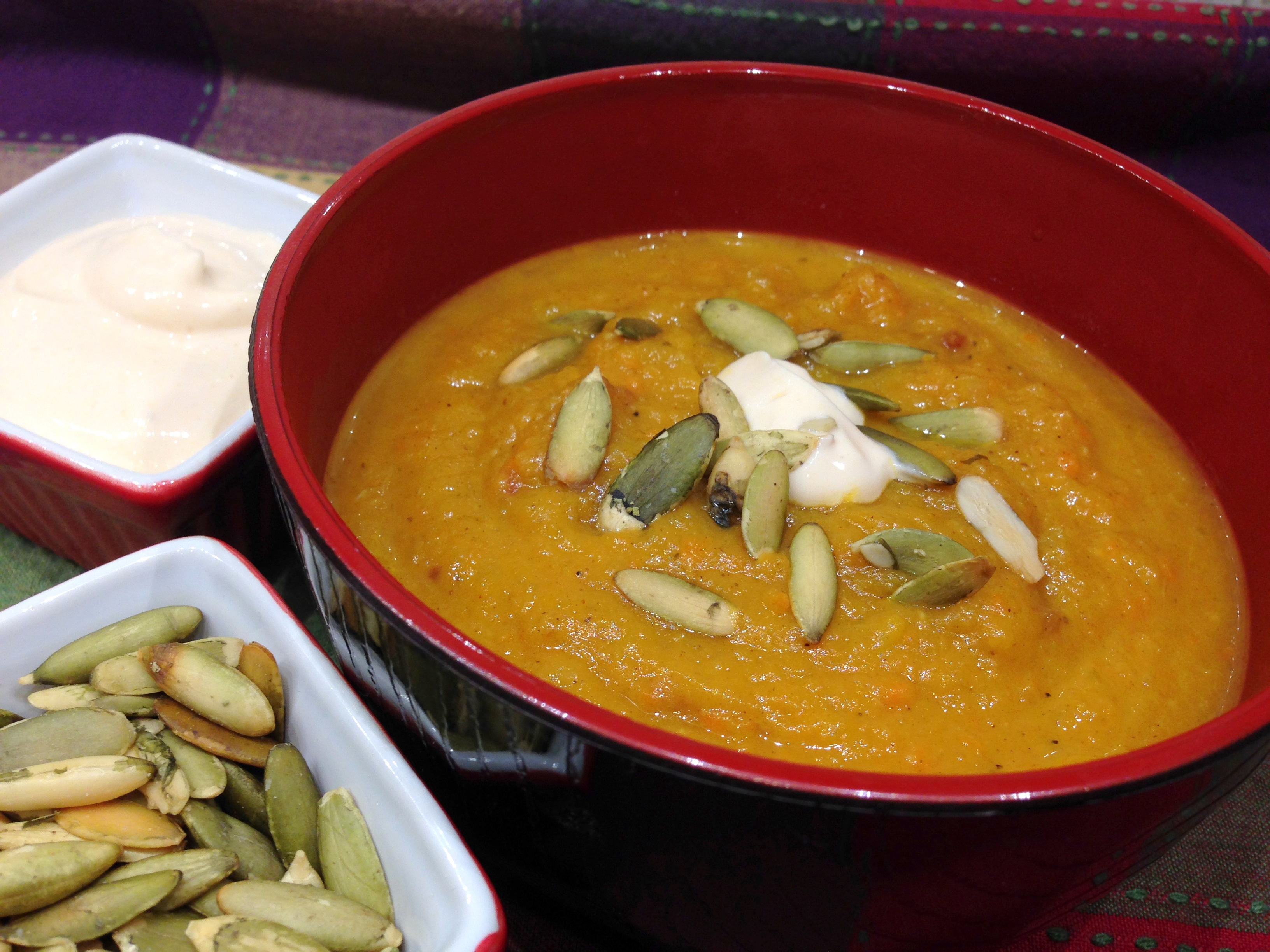Bacon Butternut Squash Soup with Chipotle Cream – Life of ...