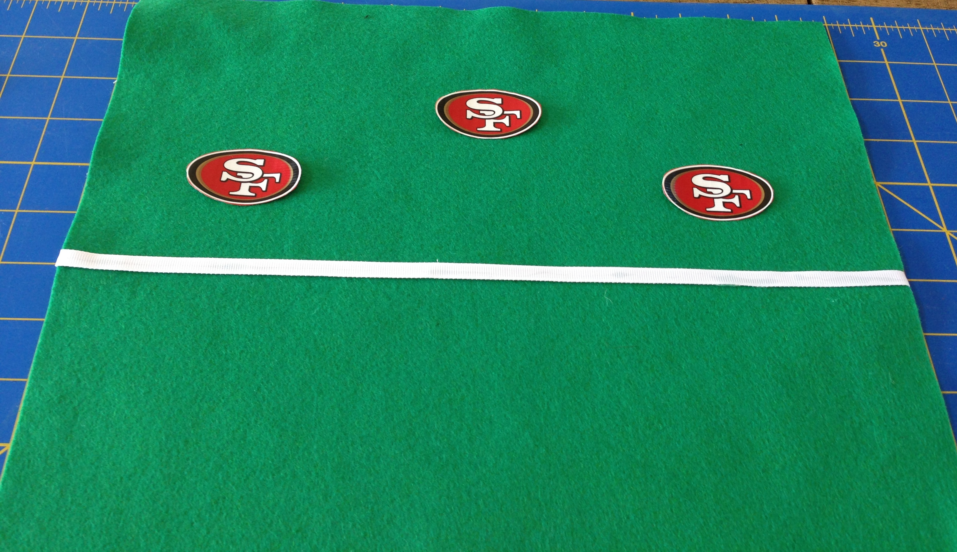 3 Logos in End Zone