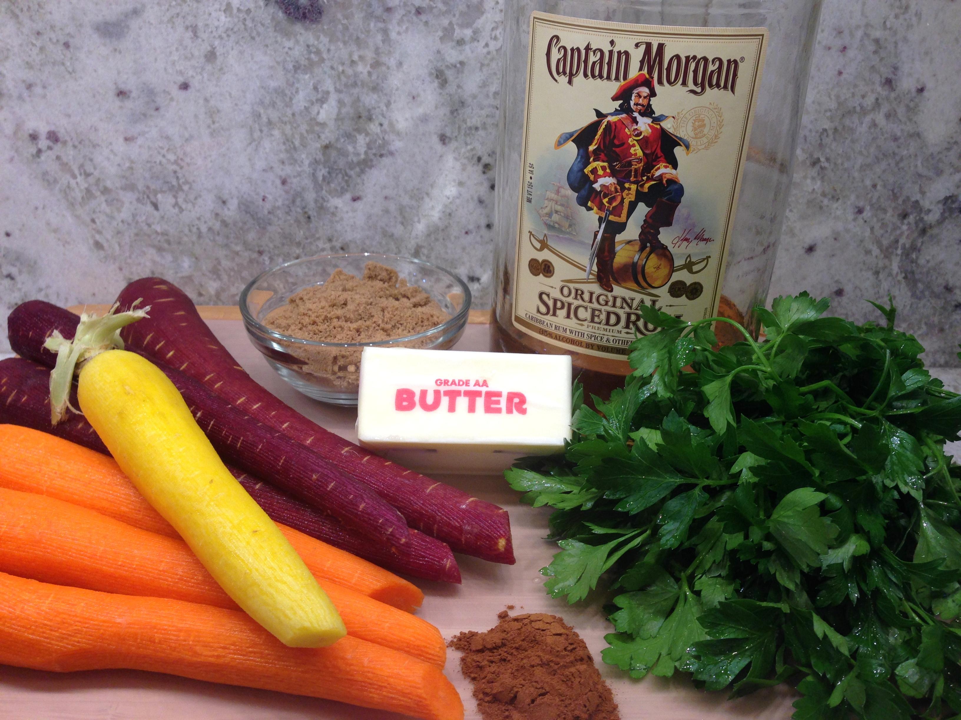 Rum Glazed Carrots Ingredients