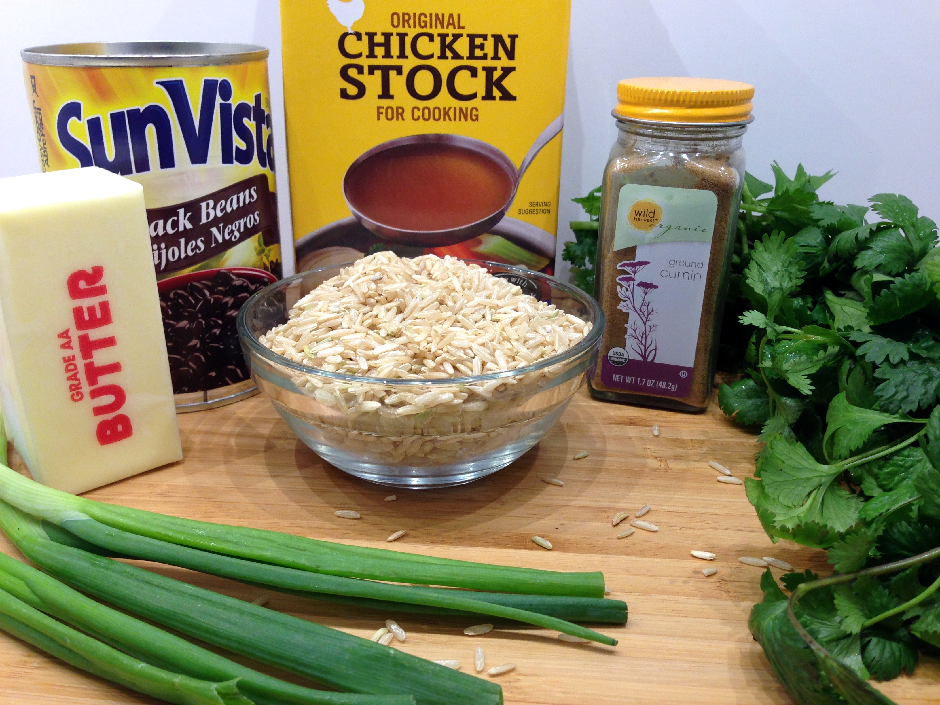 Black Bean Cilantro Rice Ingredients