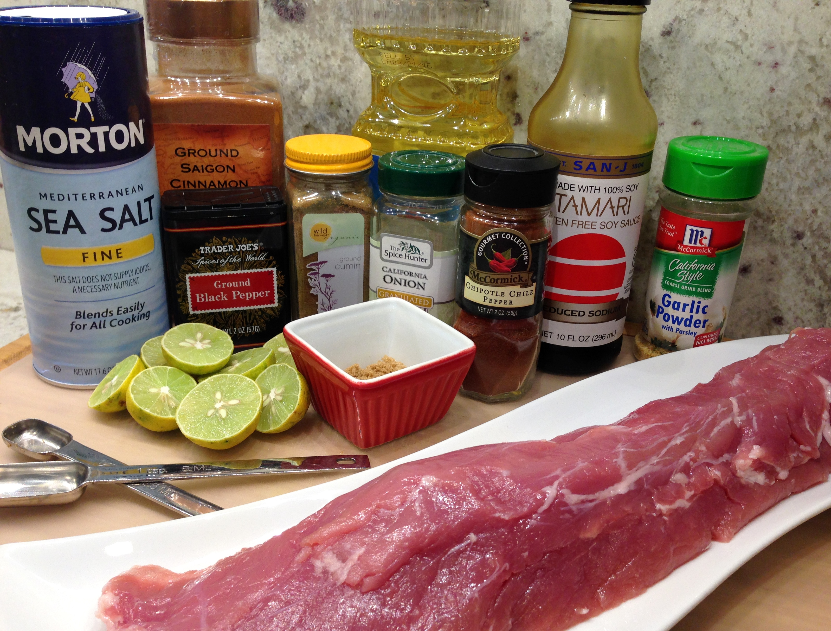 Chili Lime Pork Loin Ingredients