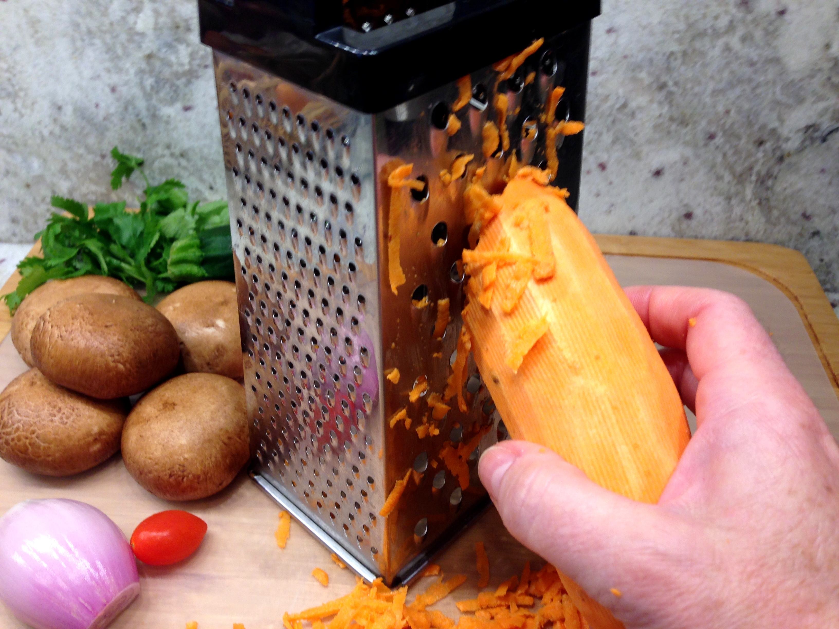 Grate the Sweet Potato