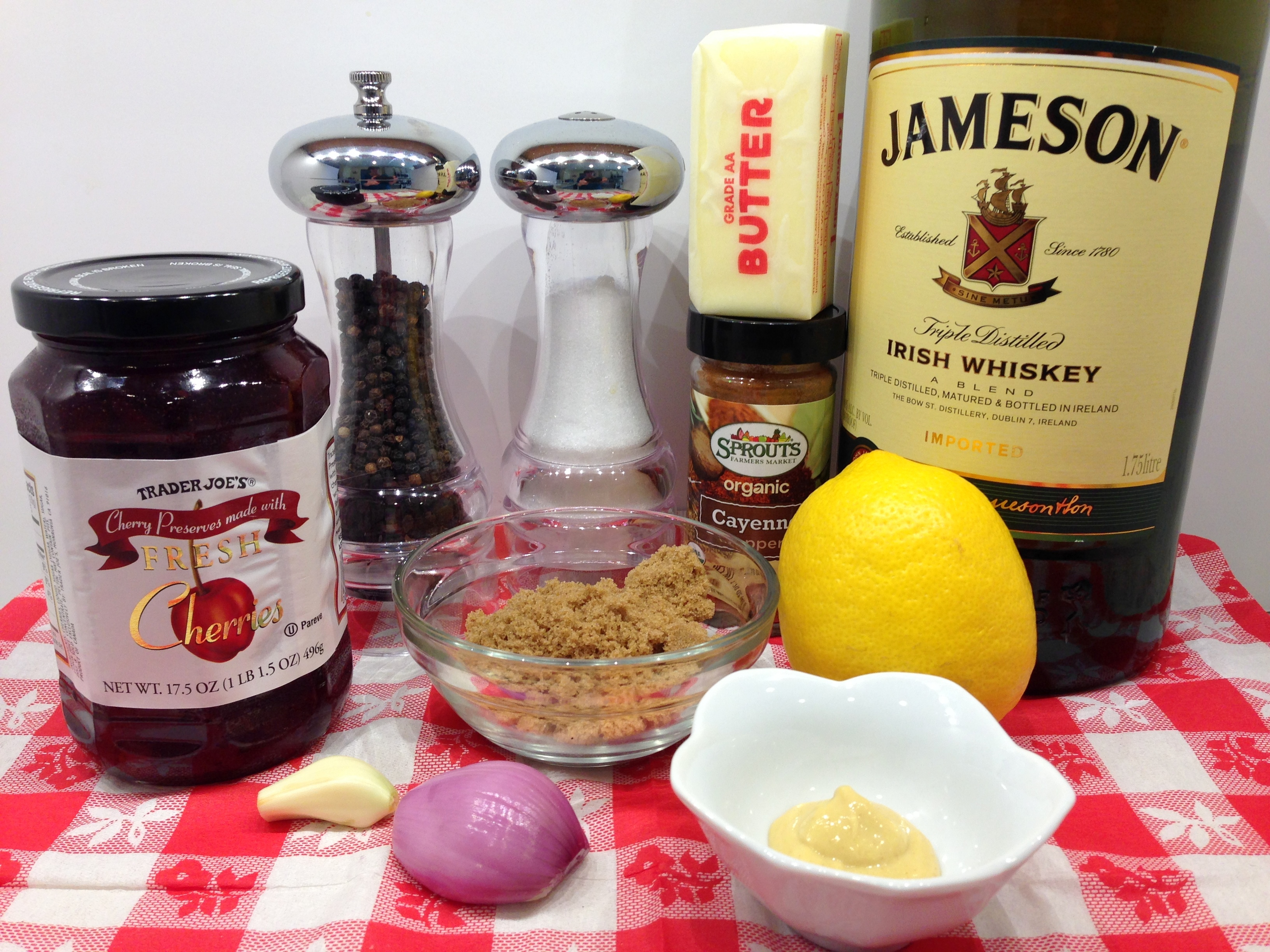 Whiskey Cherry Sauce Ingredients