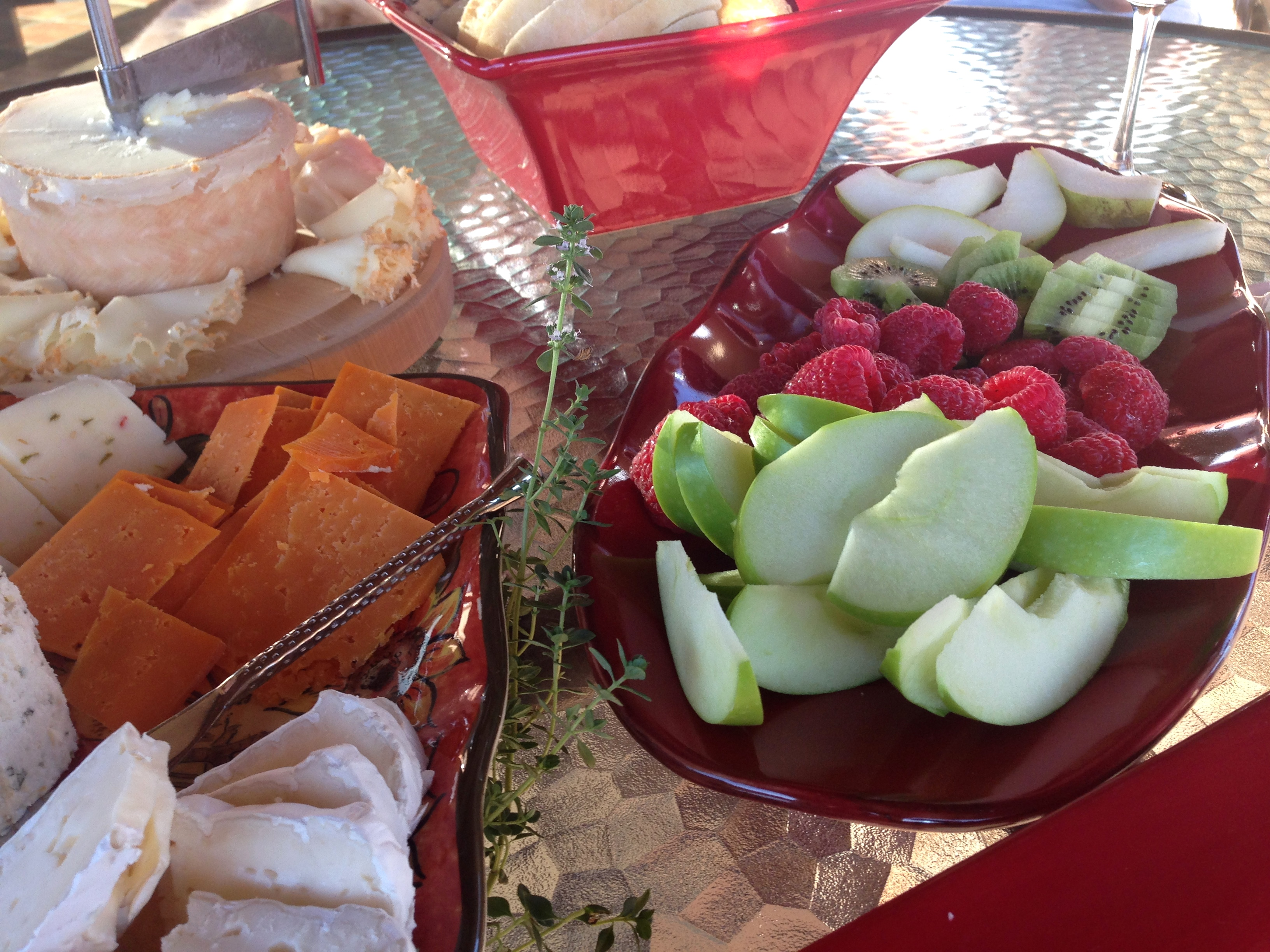 Cheese and Fruit Platters