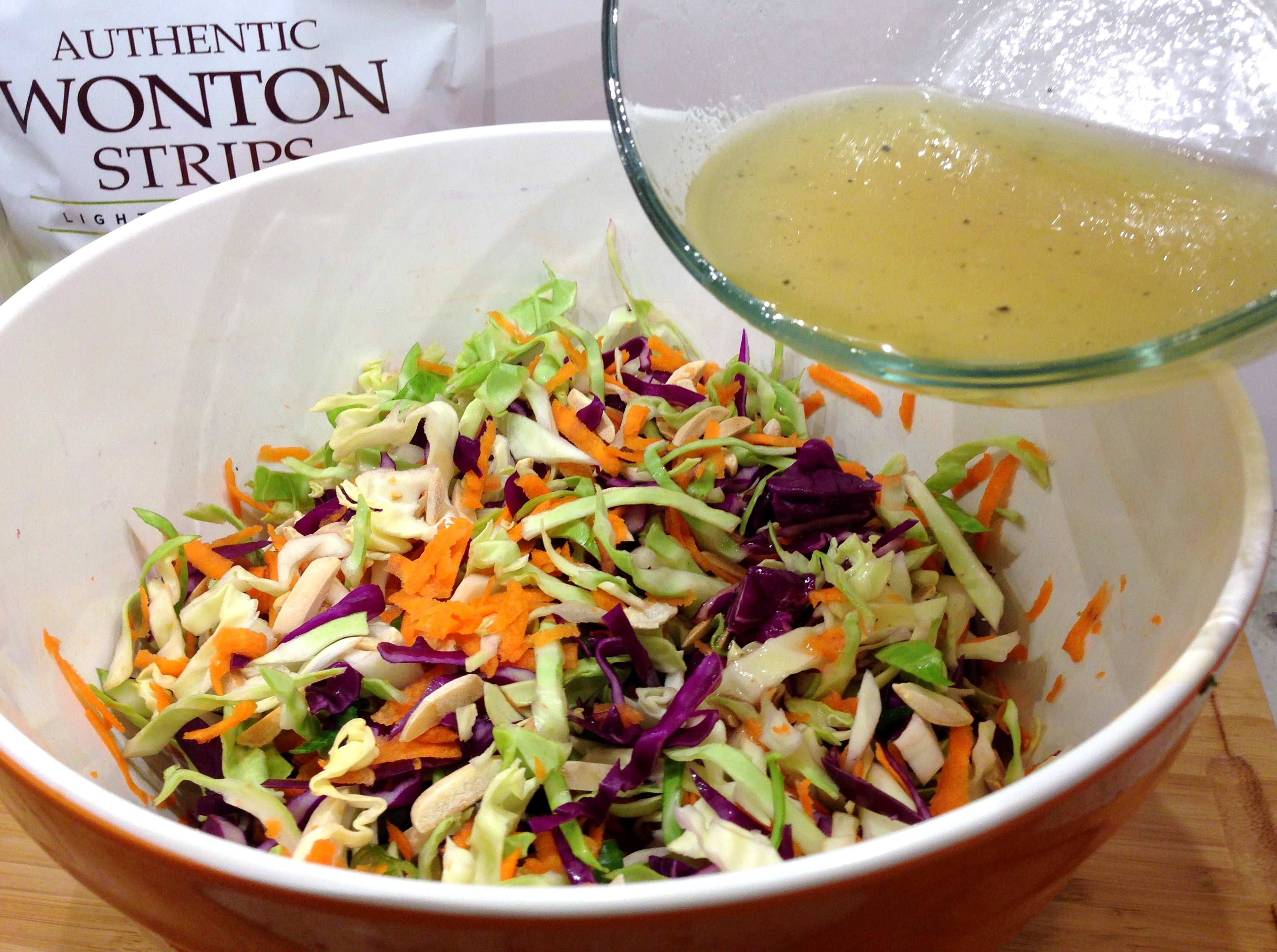 Rice Vinaigrette to salad