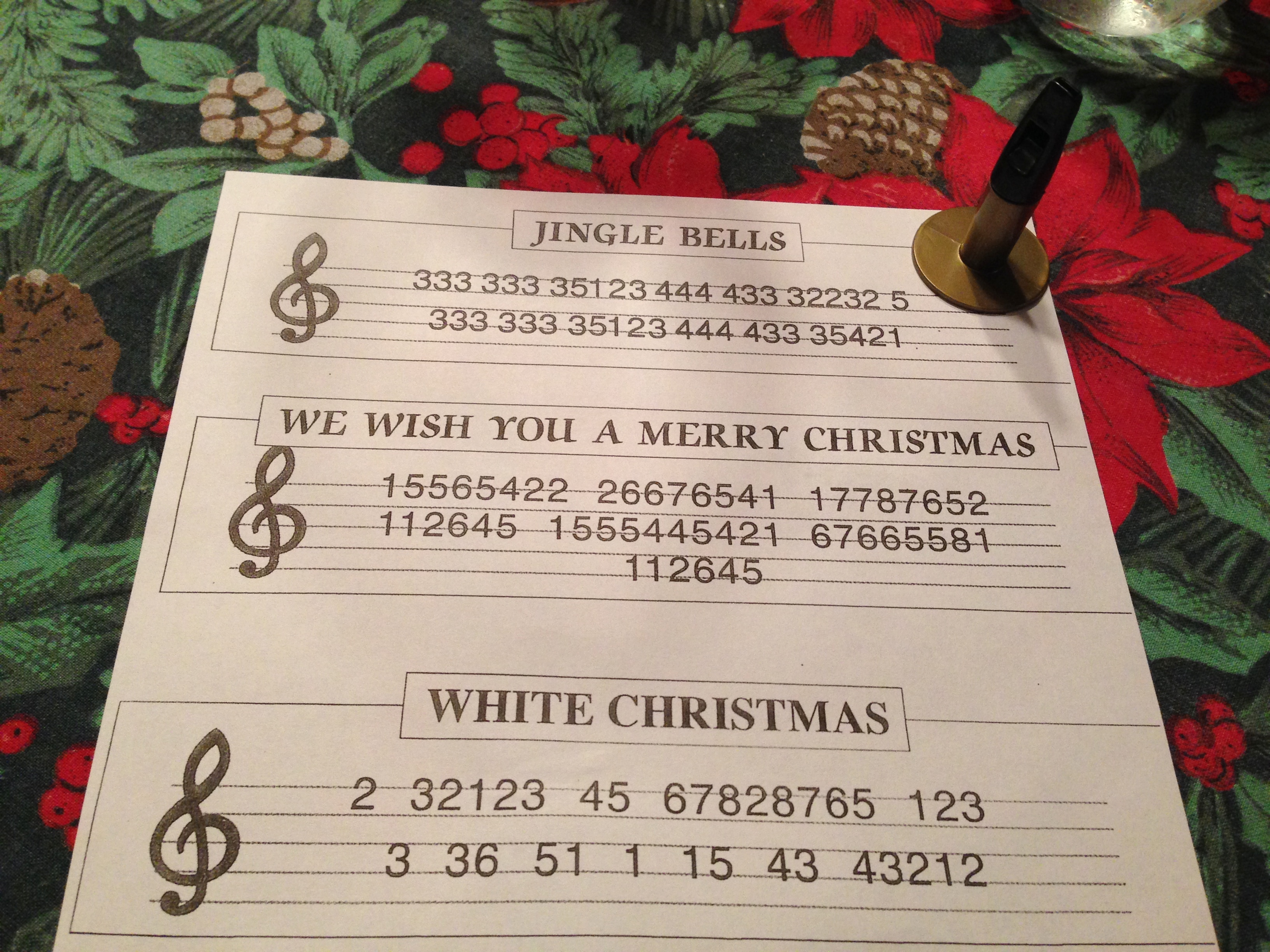 Christmas carols with whistles