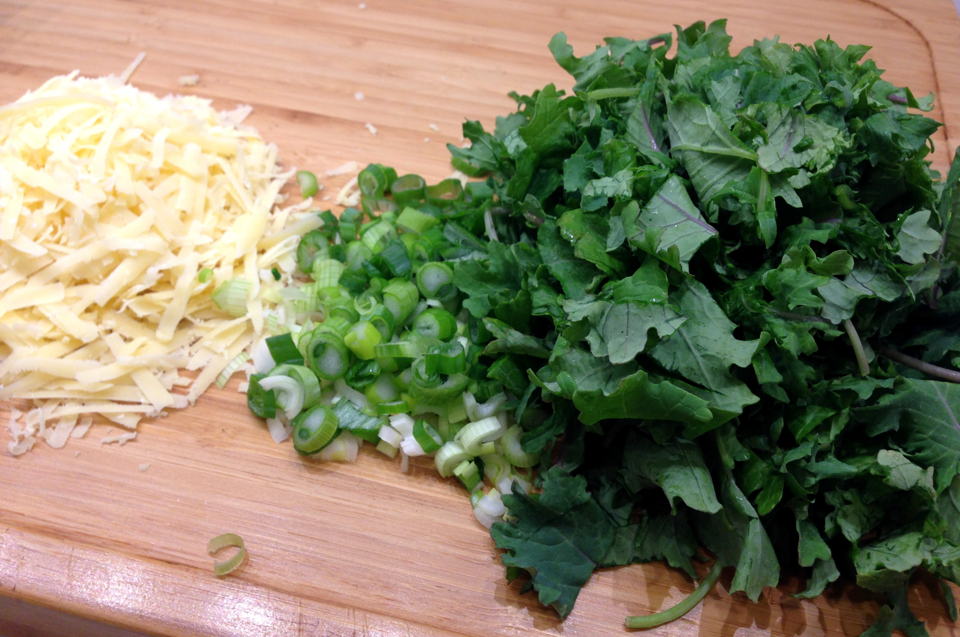 Baby kale onions cheese
